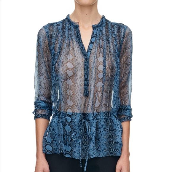 5deba9c4729a3a Rebecca Taylor silk blouse. M 5aef482ba44dbe438d9bb444